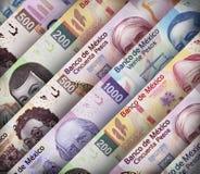 Contas do papel do peso mexicano imagem de stock royalty free