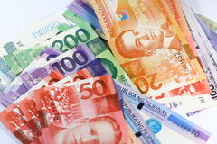 Contas do peso filipino imagens de stock