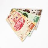 Contas do peso mexicano foto de stock royalty free