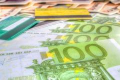 Contas e cartões de crédito Fotos de Stock Royalty Free
