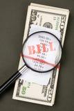 Contas e dólares Imagens de Stock
