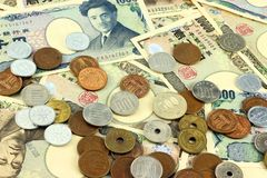 Iene japonês Fotos de Stock