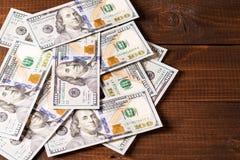 100 contas novas dos dólares americanos Imagens de Stock