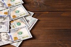 100 contas novas dos dólares americanos Fotografia de Stock Royalty Free