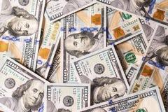 100 contas novas dos dólares americanos Foto de Stock Royalty Free