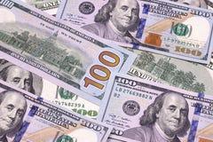 Contas novas e velhas de cem fundos abstratos do dólar Imagem de Stock Royalty Free