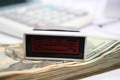 Contas pagas Imagem de Stock Royalty Free