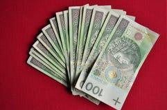 Contas polonesas do zloty Imagem de Stock