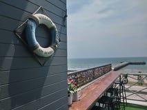 contatore all'aperto del mare fotografie stock