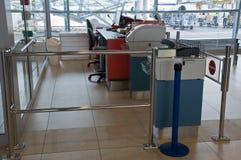 Contatore del cancello dell'aeroporto Immagine Stock