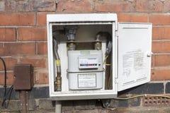 Contatore del gas esterno fotografie stock