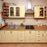 Contatore di cucina domestico Fotografia Stock Libera da Diritti