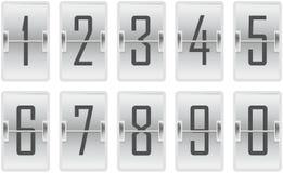 Contatore di orologio che fornisce la luce di un cavicchio delle cifre royalty illustrazione gratis