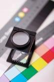 Contatore di tela sul diagramma di colore Fotografia Stock