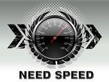 Contatore di velocità di corsa di automobile Fotografia Stock Libera da Diritti