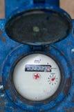 Contatore per acqua nei centimetri cubici Immagine Stock