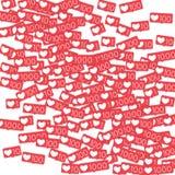 Contatori sociali di media Immagini Stock Libere da Diritti