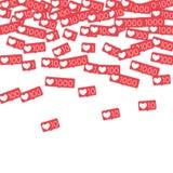 Contatori sociali di media Fotografie Stock