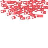 Contatori sociali di media Immagine Stock