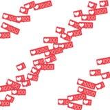 Contatori sociali di media Immagini Stock