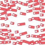 Contatori sociali di media Fotografie Stock Libere da Diritti