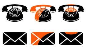 Contatta le icone per web design Immagini Stock Libere da Diritti