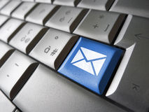 Contattici chiave del email di web Fotografia Stock Libera da Diritti