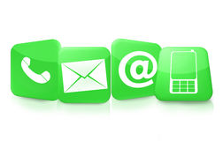 Contattici icone Fotografia Stock