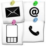 Contattici icone Immagini Stock