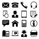 Contattici icone messe Fotografia Stock Libera da Diritti