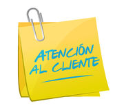 contattici posta nell'illustrazione spagnola Immagine Stock