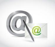 Contattici progettazione dell'illustrazione di concetto del email Immagine Stock