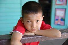Contatto di occhi del bambino Immagini Stock Libere da Diritti
