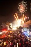 Conte abaixo do ano novo 2012 em Banguecoque, Tailândia. Fotos de Stock Royalty Free