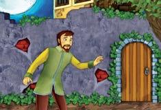 Conte de fées de bande dessinée - illustration pour les enfants Image libre de droits