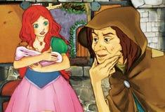 Conte de fées de bande dessinée - illustration pour les enfants Image stock