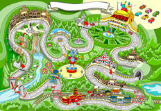 Conte de jeu - courses d'automobiles illustration stock