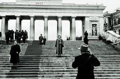 Conte Pier Colonnade a Sebastopoli, URSS, 1950th fotografia stock libera da diritti