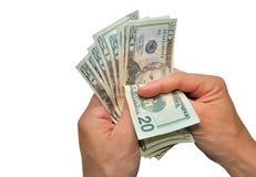 Conte seu dinheiro Fotos de Stock Royalty Free