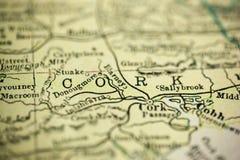 Contea Cork Map immagine stock libera da diritti