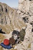 Contea dell'Austria, Salisburgo, facente un'escursione attrezzatura Fotografie Stock Libere da Diritti