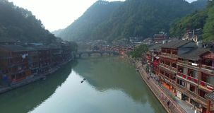 Contea di Fenghuang in Cina stock footage