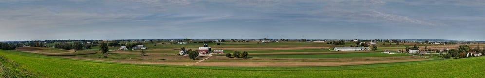 Contea di Lancaster panoramica Fotografia Stock Libera da Diritti