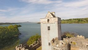 Contea il Donegal Irlanda di Creeslough del castello della daina immagine stock