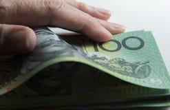 Conteggio dei soldi Immagini Stock