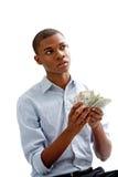 Conteggio dei soldi Fotografie Stock Libere da Diritti