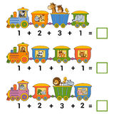 Conteggio del gioco educativo per i bambini Fogli di lavoro dell'aggiunta royalty illustrazione gratis