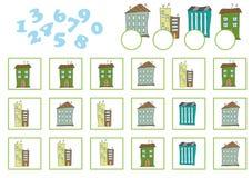 Conteggio del gioco per i bambini in età prescolare Educativo un gioco matematico royalty illustrazione gratis
