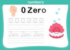Conteggio della mano dito e numero, esercizio di numero royalty illustrazione gratis