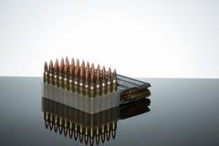 223 conteggio delle munizioni 50 Fotografie Stock